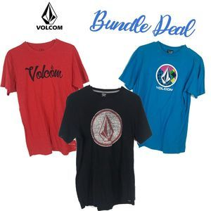 Volcom Logo Graphic T shirts - Bundle of 3